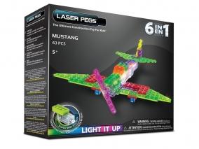 Laser Pegs - Светещ конструктор 6в1 МУСТАНГ ZD160B