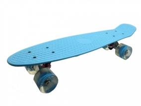 Скейтборд Fishboard 58cm със светещ LED колела, Син 173019-1
